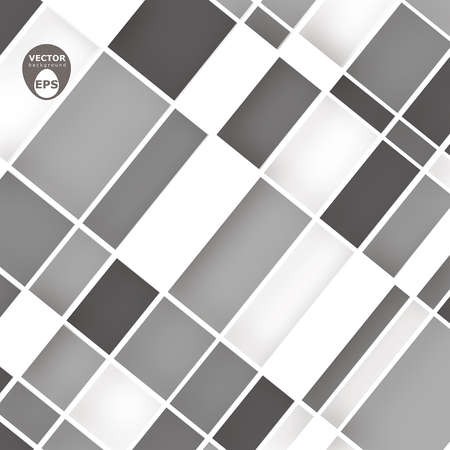 greyscale: Greyscale squares vector background