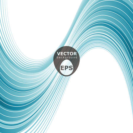Blue waves abstract vector background Stock Vector - 18386009