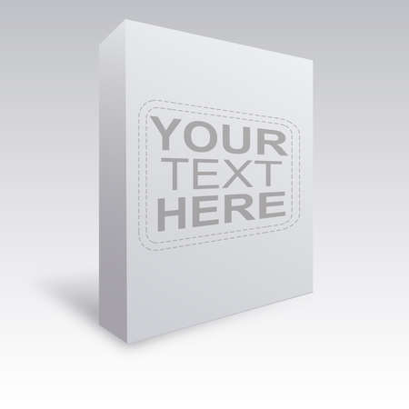 White box vector ready to use over light grey gradient Stock Vector - 18386011