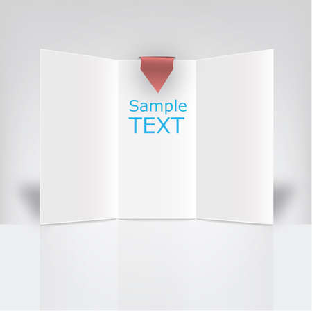 White triptych vector ready to use in a commercial campaign Stock Vector - 18386012