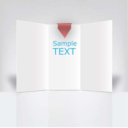 Witte drieluik vector klaar voor gebruik in een commerciële campagne Stock Illustratie