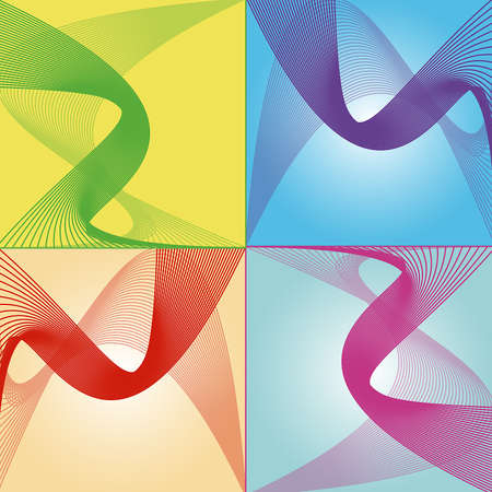 Colorful stripes waves vector Stock Vector - 18386014