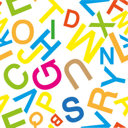 pattern made with the alphabet
