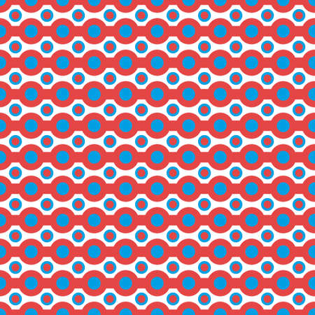 pattern made with dots and stripes Vector