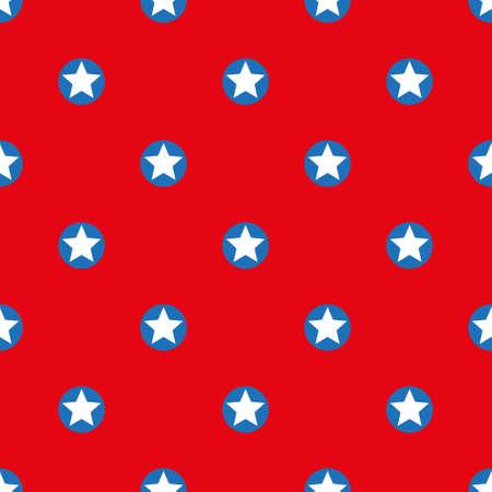 patroon gemaakt met sterren binnen stippen Stock Illustratie
