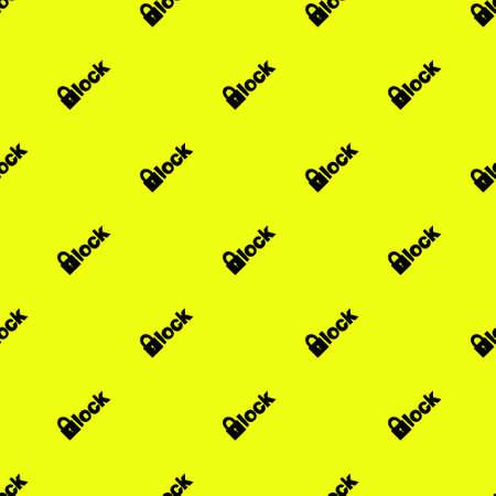 patroon gemaakt met een klein slotje op gele achtergrond