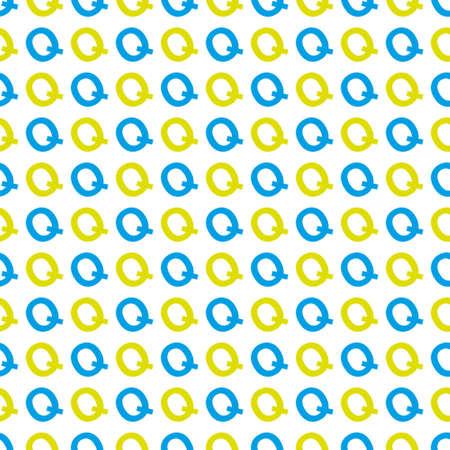 patroon gemaakt met de letter Q Stock Illustratie