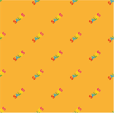 pattern with a colorful word sales write on it