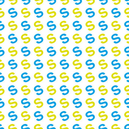 pattern made with the letter S Illustration