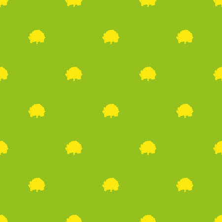 pattern made with trees over green background Illustration