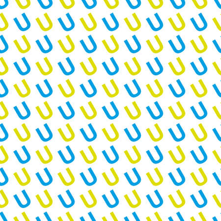 Vector pattern made with the letter U