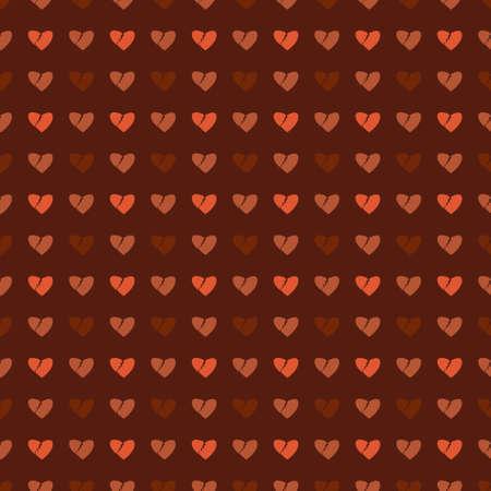 Vector pattern made with little broken hearts Illustration