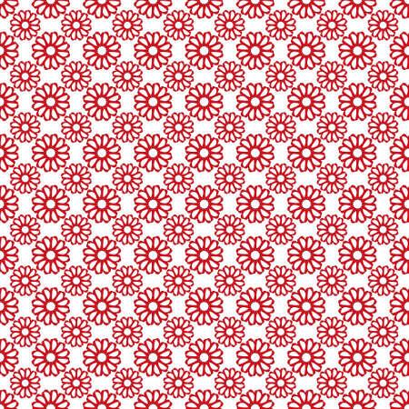 Vector vloertegel patroon gemaakt met bloemen