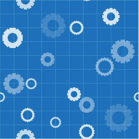 Vector patroon gemaakt met verschillende versnellingen Stock Illustratie