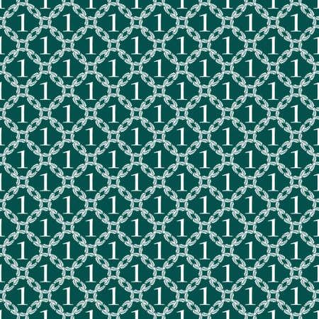 Winnaar vector patroon met het nummer een