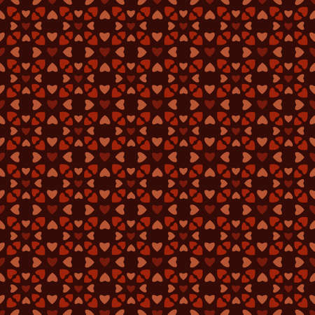 Vector pattern made with different color hearts