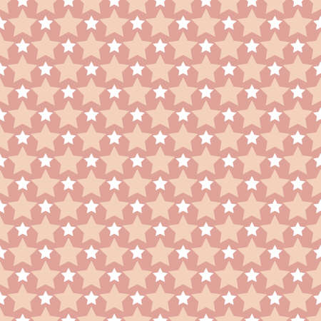 Vector pattern or background made with different color stars