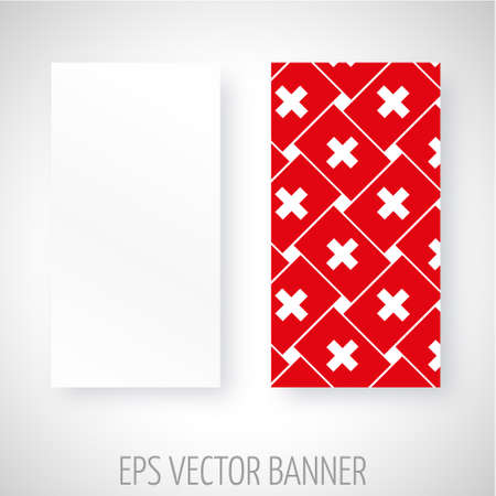 swiss flag: Vector banner with Swiss flag decoration