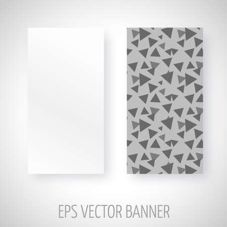 greyscale: Vector banner with greyscale triangels decoration