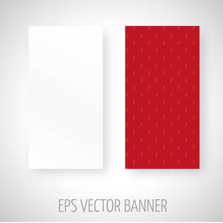 Vector banner gemaakt met weinig rode stralen decoratie Stock Illustratie