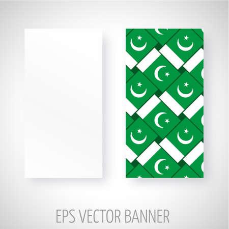 pakistan flag: Vector banner with Pakistan flag decoration