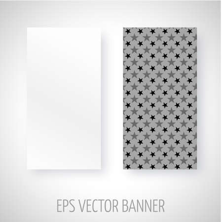 greyscale: Vector banner with greyscale stars decoration