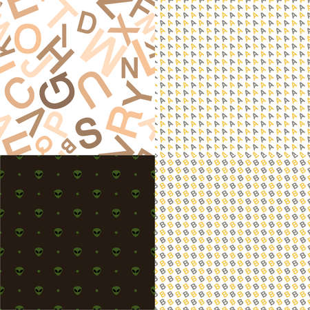 Set of 4 different colorful backgrounds or textures photo