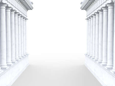 3d generated roman-style column portal on a white background Stock Photo