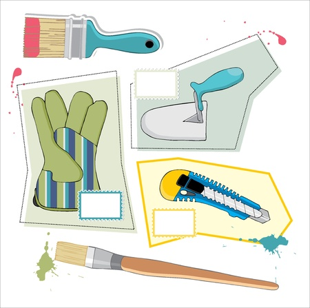 hand trowel: painting tool background