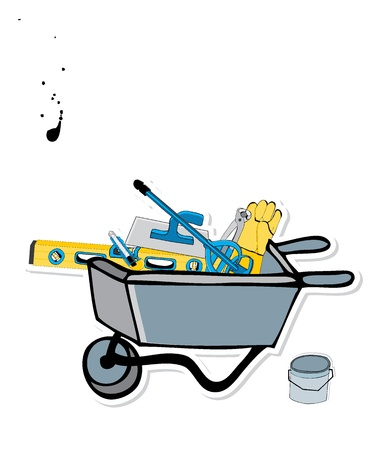 handcart: tool background  Illustration