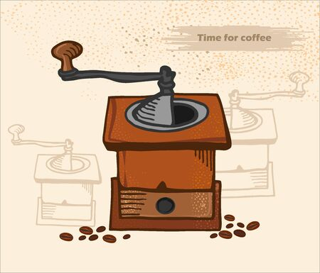 antique coffee Vector