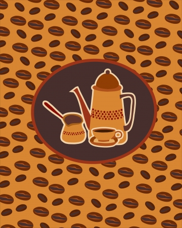 background with Turkish coffee Stock Vector - 18085313