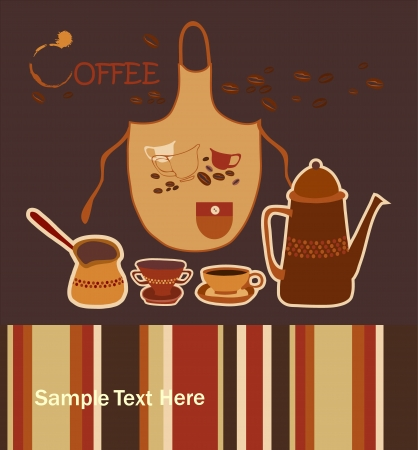 background with Turkish coffee Vector