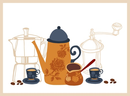 background with Turkish coffee Stock Vector - 18085323