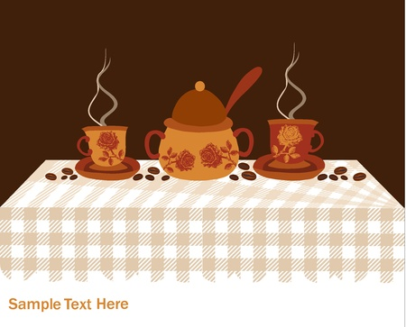 background with Turkish coffee Stock Vector - 18085329