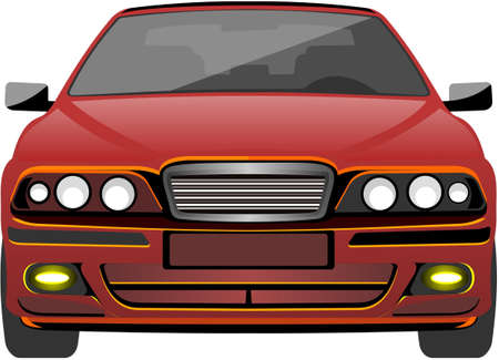 Red car Stock Vector - 18751522