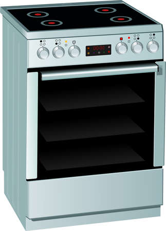 oven range: electric stove Illustration
