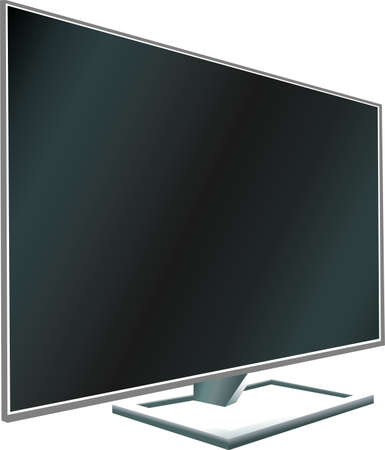 flat screen tv: TV flat screen LCD, plasma realistic illustration