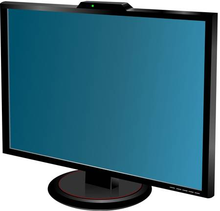 lcd tv monitor isolated, vector illustration