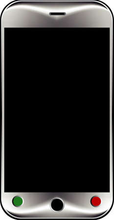 Smart Phone With Blank Screen Isolated Stock Vector - 21738875