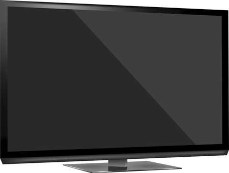 flat screen tv: TV flat screen lcd, plasma realistic vector illustration  Illustration