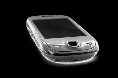 mobile phone on black isolated background Stock Photo - 22428917