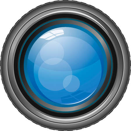 Vector illustration of camera lens