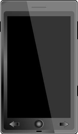 Realistic mobile phone with blank screen isolated on white background Stock Vector - 22428937