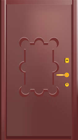 going green: Door  Vector illustration
