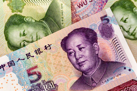 Set of chinese currency money yuan renminbi