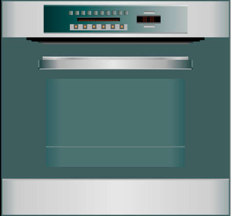 Oven isolated on white illustration Vector