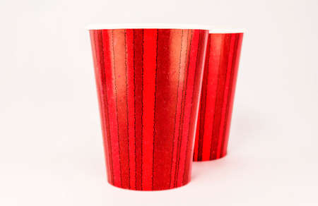 Red Cup isolated on white photo
