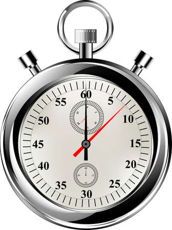 Vector stop watch, realistic illustration