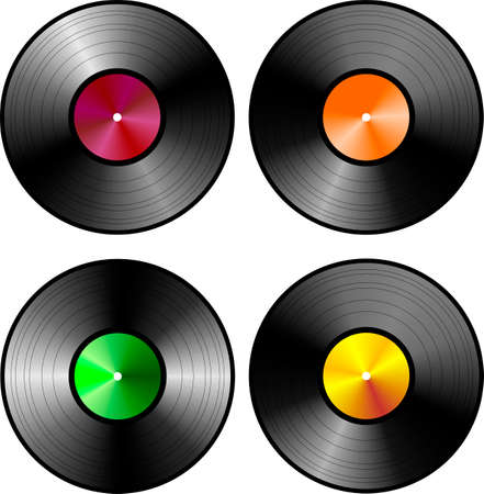 vynil: vynil record Illustration